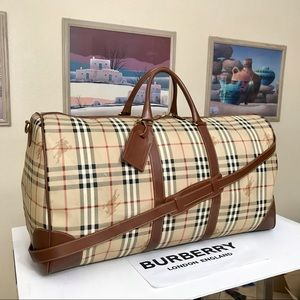 BURBERRY Haymarket Check 60 Duffel Bag 💼